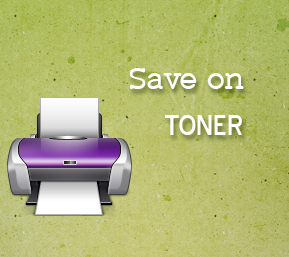 save money on toner cartridges