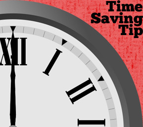 time saving tip clock
