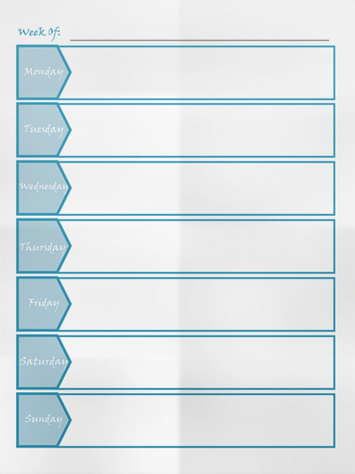 Free Weekly Planner Template – Template for Weekly Planner