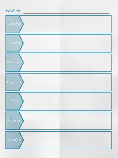 Free Weekly Planner Template – Weekly Task Planner Template