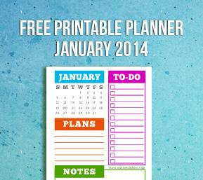 january 2014 planner